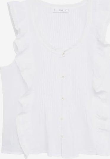 MANGO Блуза 'Romi' в бял меланж, Преглед на продукта