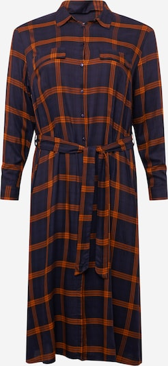 ONLY Carmakoma Košilové šaty - noční modrá / oranžová, Produkt