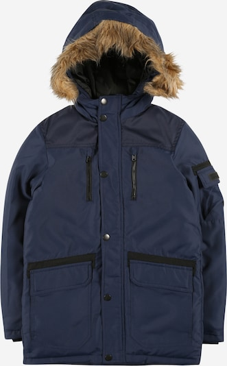 Jack & Jones Junior Zimná bunda 'Globe' - námornícka modrá / čierna, Produkt