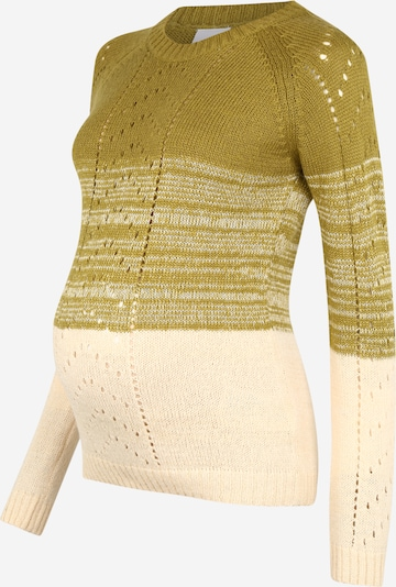 MAMALICIOUS Pullover 'MLELLIS' in beige / curry, Produktansicht