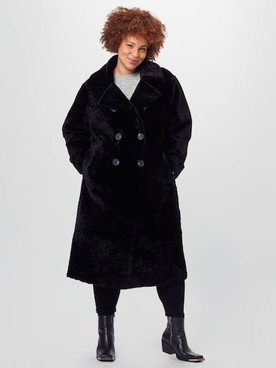 Palton de primăvară-toamnă River Island Plus pe negru, Vizualizare model