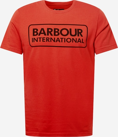 Barbour International T-Shirt in rot / schwarz, Produktansicht