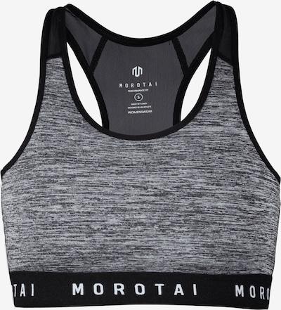 MOROTAI Sport-BH in grau / schwarz / weiß, Produktansicht