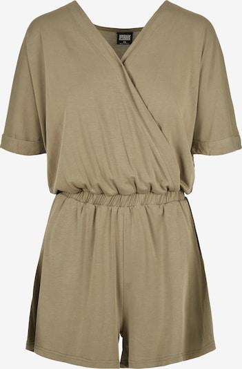 Urban Classics Damen ' Ladies Short Modal Jumpsuit ' in khaki, Produktansicht