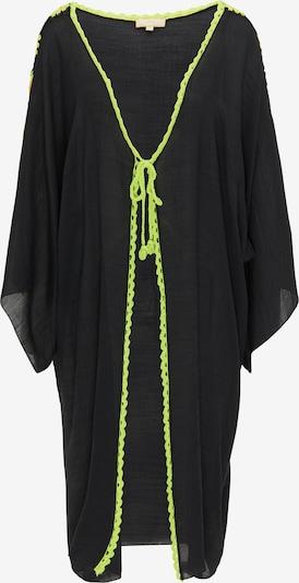 MYMO Kimono en vert fluo / saumon / noir, Vue avec produit