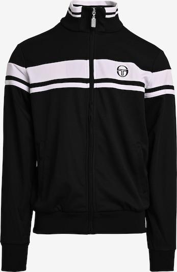 Sergio Tacchini Veste de sport 'Damarindo Sweater Archivio' en noir / blanc, Vue avec produit