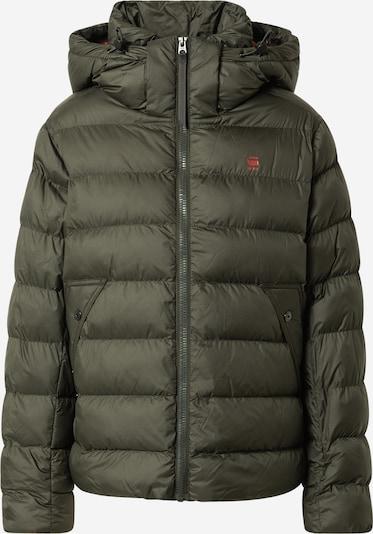 G-Star RAW Veste d'hiver en kaki / rouge, Vue avec produit