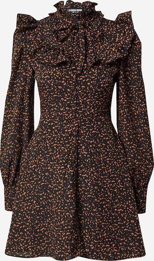Fashion Union Blousejurk 'ROMANCE' in de kleur Cognac / Zwart, Productweergave