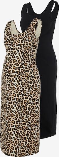 MAMALICIOUS Kleid 'Sannie' in beige / cognac / schwarz, Produktansicht
