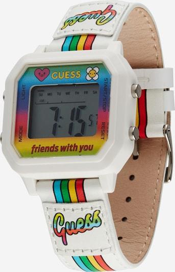GUESS Uhr in hellblau / gelb / grün / rot / weiß, Produktansicht