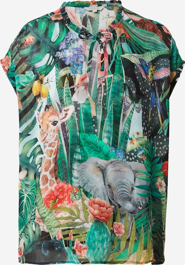 Frogbox Bluse in grün / mischfarben, Produktansicht