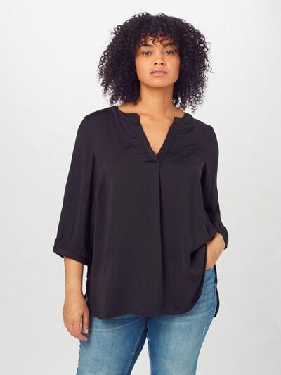 Zizzi Bluse 'XNOTE' in schwarz, Modelansicht