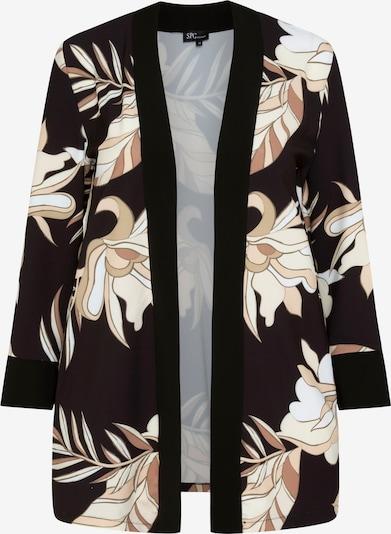 SPGWOMAN Kimono 'KIMONO MIT BLUMENMUSTER' in braun / bordeaux / schwarz / weiß, Produktansicht