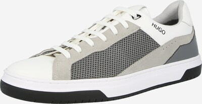 HUGO Sneaker in silbergrau / hellgrau / offwhite, Produktansicht