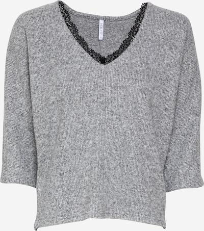 Hailys Пуловер 'Elia' в сив меланж / черно, Преглед на продукта