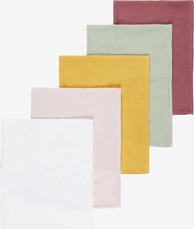 NAME IT Maska z materiału w kolorze musztardowy / pastelowy zielony / stary róż / białym, Podgląd produktu
