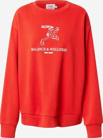 NA-KD Sweatshirt i orangerød / hvid, Produktvisning