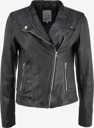 Goosecraft Lederjacke 'RYLEE BIKER' in schwarz / silber, Produktansicht