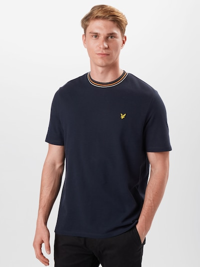 Lyle & Scott T-Shirt in dunkelblau / orange: Frontalansicht