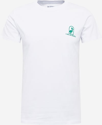 Brosbi T-Shirt 'THE PEELICAN TEE' en blanc, Vue avec produit