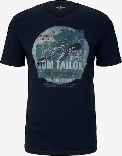 TOM TAILOR T-Shirt mit Print in navy, Produktansicht