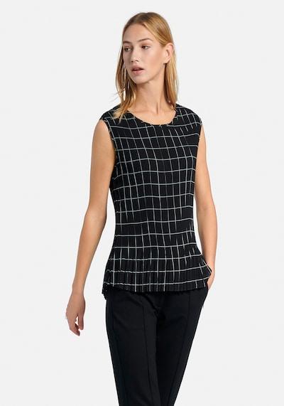 Uta Raasch Blusentop in schwarz / weiß, Modelansicht