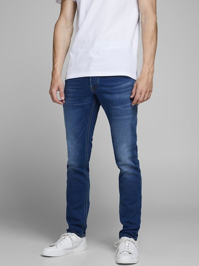 Džinsai iš JACK & JONES , spalva - tamsiai (džinso) mėlyna, Modelio vaizdas