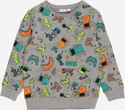 Guppy Sweatshirt 'DION' in gelb / graumeliert / jade / hellorange / schwarz, Produktansicht