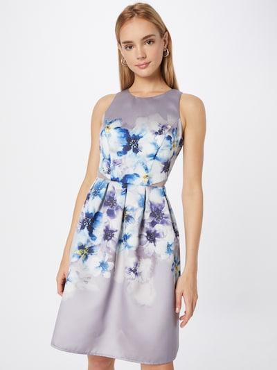 VM Vera Mont Kleid in saphir / gelb / flieder / dunkellila / weiß, Modelansicht