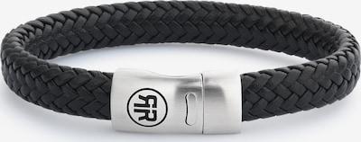 Rebel & Rose Armband in schwarz / silber, Produktansicht