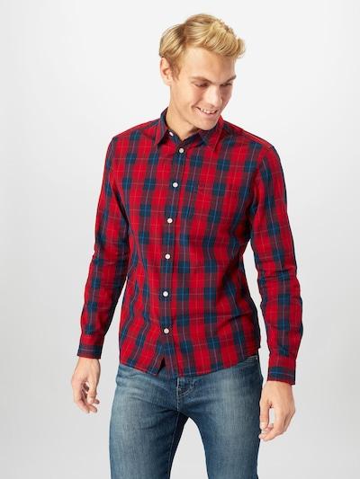 WRANGLER Overhemd in de kleur Donkerblauw / Rood: Vooraanzicht