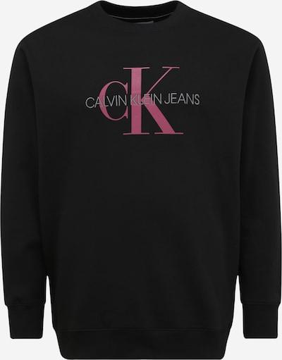 Calvin Klein Jeans Plus Sweat-shirt en éosine / noir, Vue avec produit