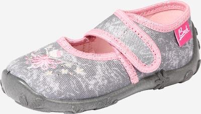 BECK Huisschoenen 'Tänzerin' in de kleur Grijs / Pink / Wit, Productweergave