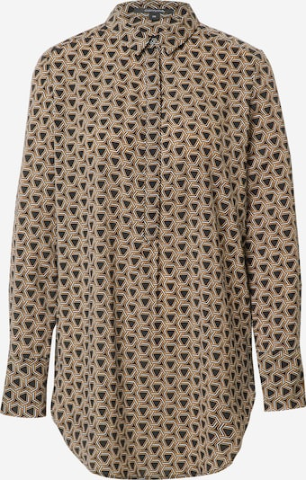 COMMA Blouse in Light brown / Black / White, Item view