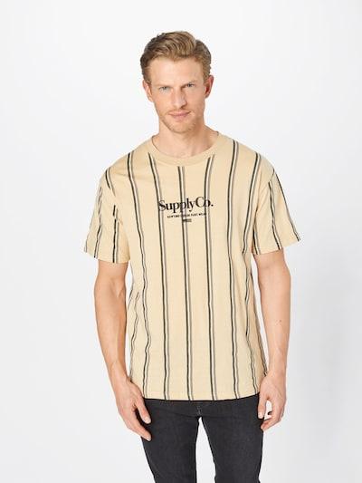 Cotton On Bluser & t-shirts 'Downtown' i beige / sort / hvid: Frontvisning