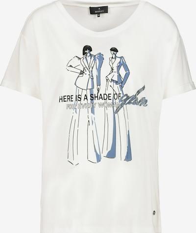 monari Shirt in de kleur Smoky blue / Zwart / Wit, Productweergave