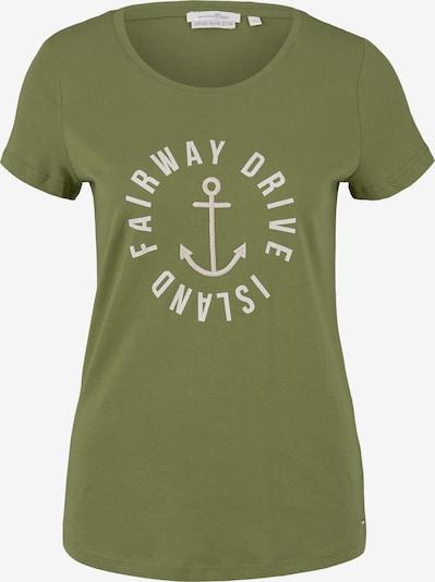 TOM TAILOR DENIM Shirt in de kleur Groen: Vooraanzicht