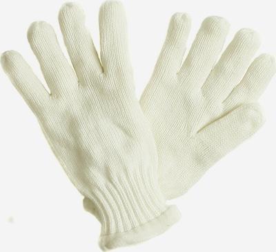 SAMAYA Fleecehandschuhe mit Fleecefutter in weiß / naturweiß, Produktansicht