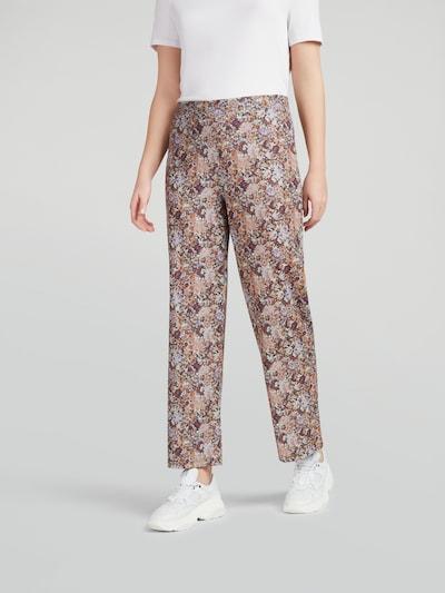 PIECES Pantalon 'Leaste' en beige / cognac / violet clair / violet foncé / mélange de couleurs, Vue avec modèle