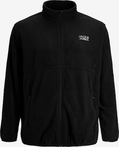 Jack & Jones Plus Fleece jacket 'Hype' in black / white, Item view