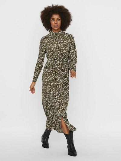 VERO MODA Kleid in khaki / weiß, Modelansicht