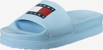 Tommy Jeans Badeschuhe 'Bubble' in Blau