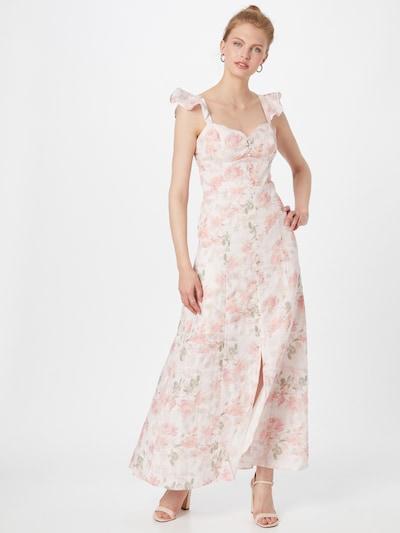 GUESS Kleid in grün / pink / weiß, Modelansicht