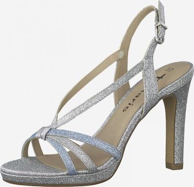 TAMARIS Sandaler med rem i lyseblå / sølv, Produktvisning