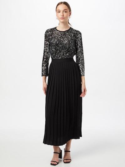 Rochie de seară Little Mistress pe negru / argintiu, Vizualizare model