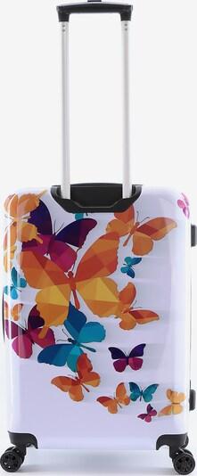 Saxoline Kurzreisekoffer 'Schmetterling' in weiß, Produktansicht