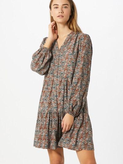 OBJECT Kleid 'Klara' in creme / braun / orange, Modelansicht