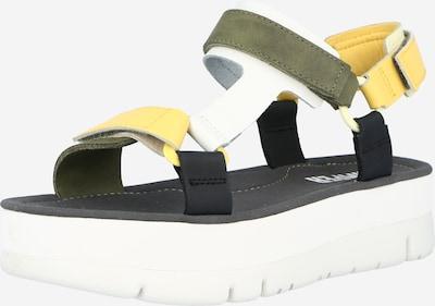 CAMPER Sandales à lanières en jaune / vert foncé, Vue avec produit