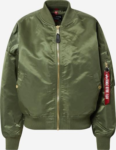 ALPHA INDUSTRIES Prehodna jakna | zelena barva, Prikaz izdelka