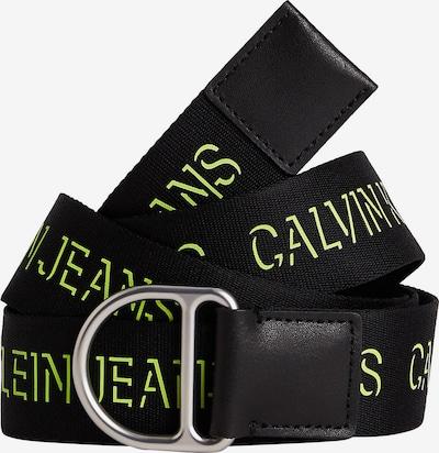 Calvin Klein Jeans Gürtel in neongrün / schwarz, Produktansicht
